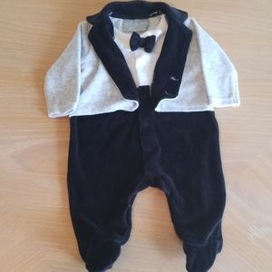 Rock A Bye Baby Boutique 0-3 month snap up tuxedo